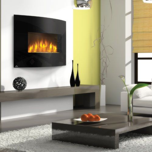 Idea For Sitting Area Bookcase Wall Napoleon Fireplace Slimline Convex 32 Efc32h Electri Wall Mount Electric Fireplace Hanging Fireplace Electric Fireplace
