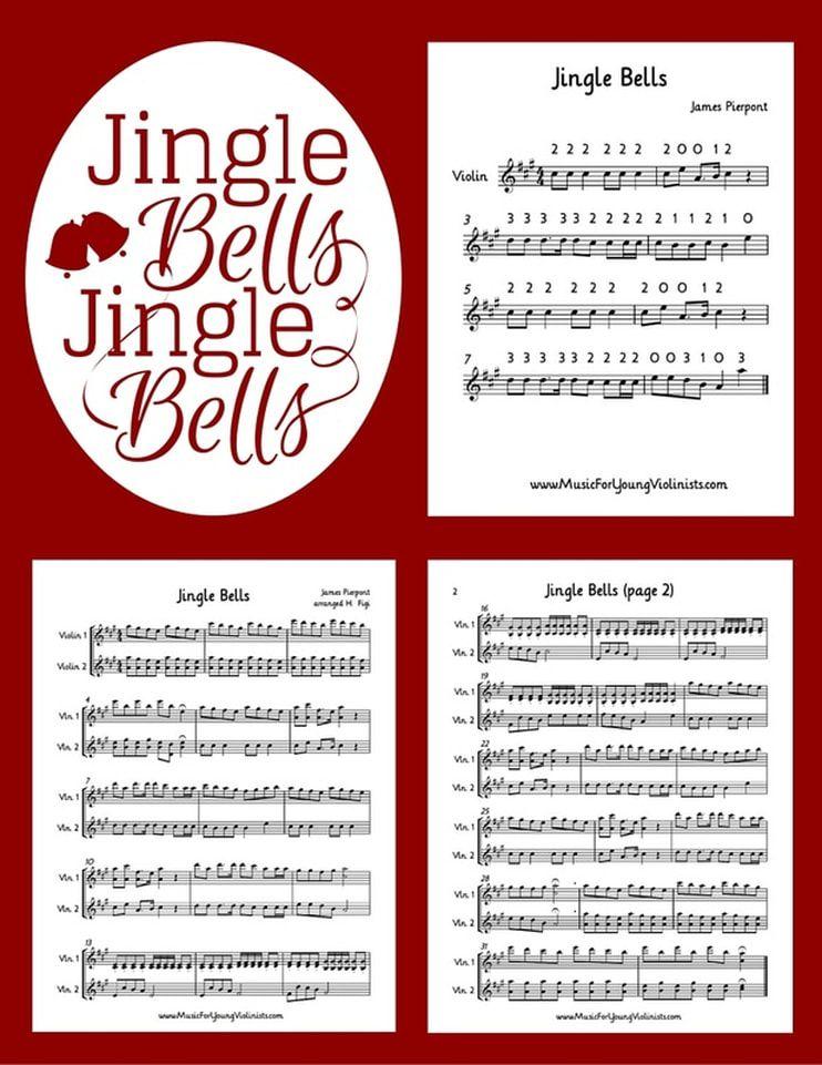 Jingle Bells for Violin Violin teaching, Jingle bells