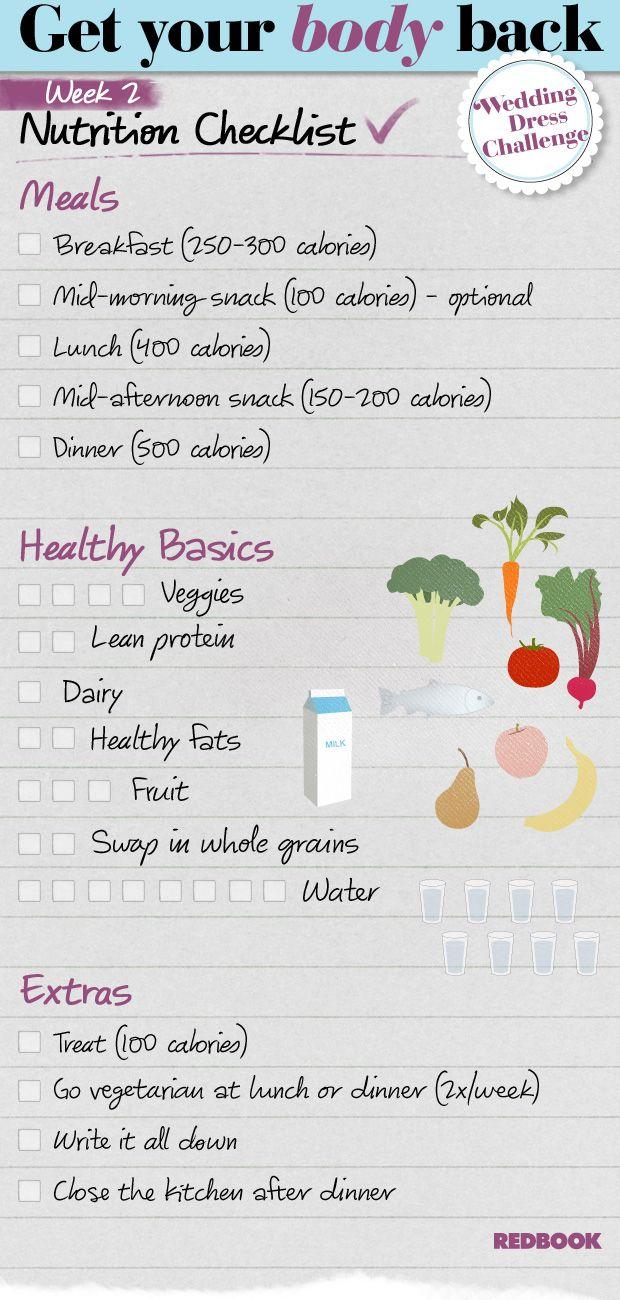Wedding Dress Challenge Eating Checklist Week 2