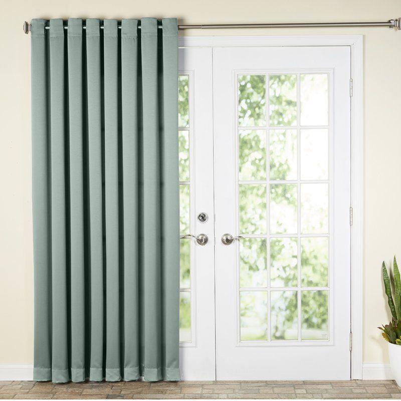 Basics Solid Room Darkening Grommet Single Curtain Panel Patio
