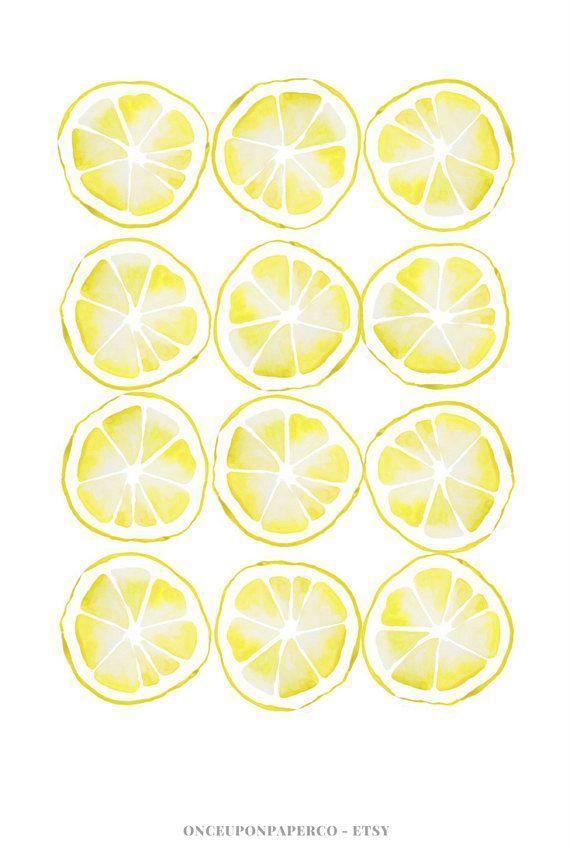 Lemon kitchen print, Kitchen printable, Farmhouse style, Rustic home ...