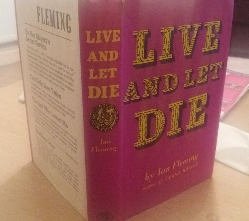 LIVE AND LET DIE.James Bond Novel. 1st Edition.  IAN FLEMING.  RARE BOOK