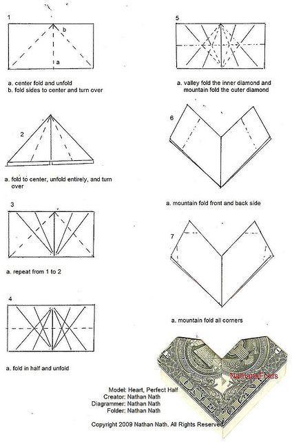 money origami diagrams