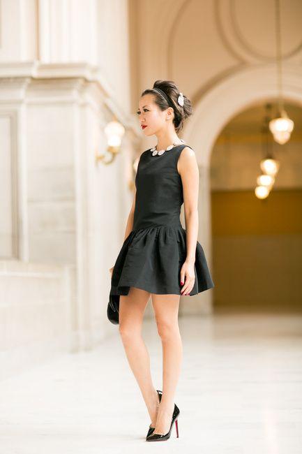 Little Black Dress Flare Dress Modern Pearls Wendy S Lookbook Little Black Dress Black Dress Fashion