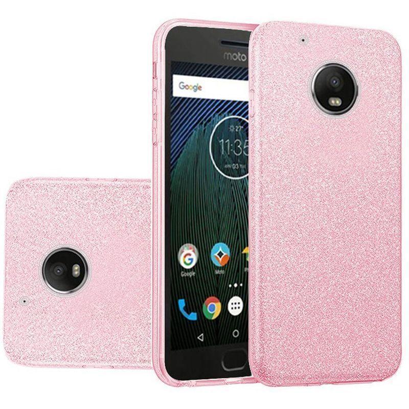 65c689ebd Insten Pink Hard Snap-on Glitter Case Cover For Motorola Moto G5 Plus  (Pink)  2364288