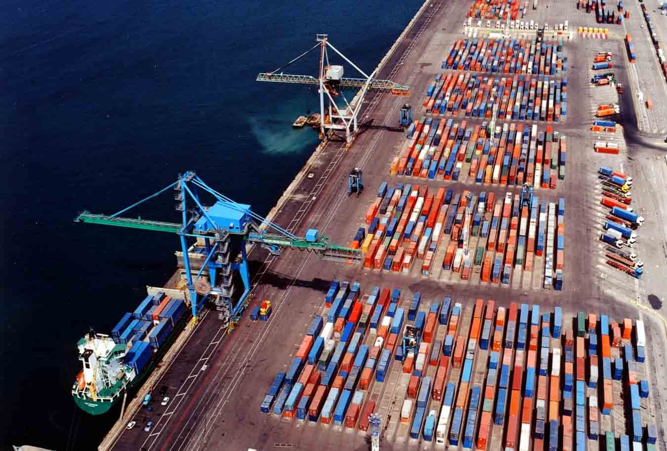 Shipping Containers Terminal Port De Marseilles France Freight Transport