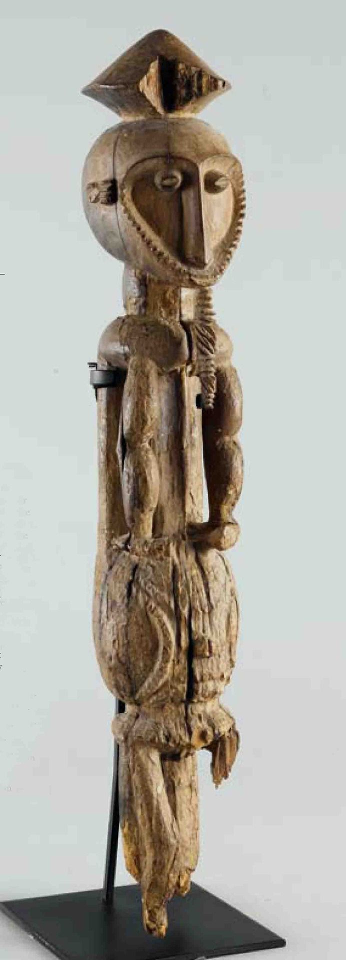 Africa | Sculpture from the Oron people of Nigeria | Wood | ca. prior to 1938