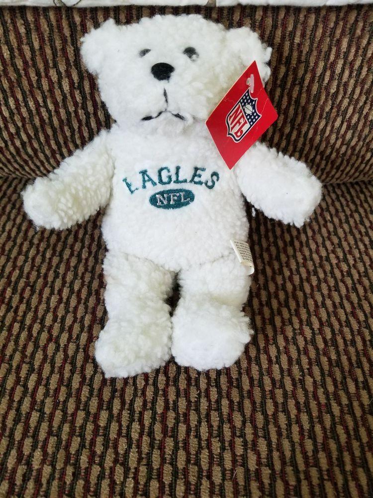 ec7fd288 NFL Philadelphia Eagles White Teddy Bear NWT Polyester 9 ...
