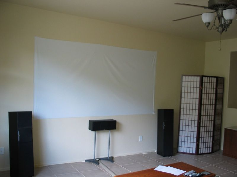 How (not?) to make a Home Theater projector screen