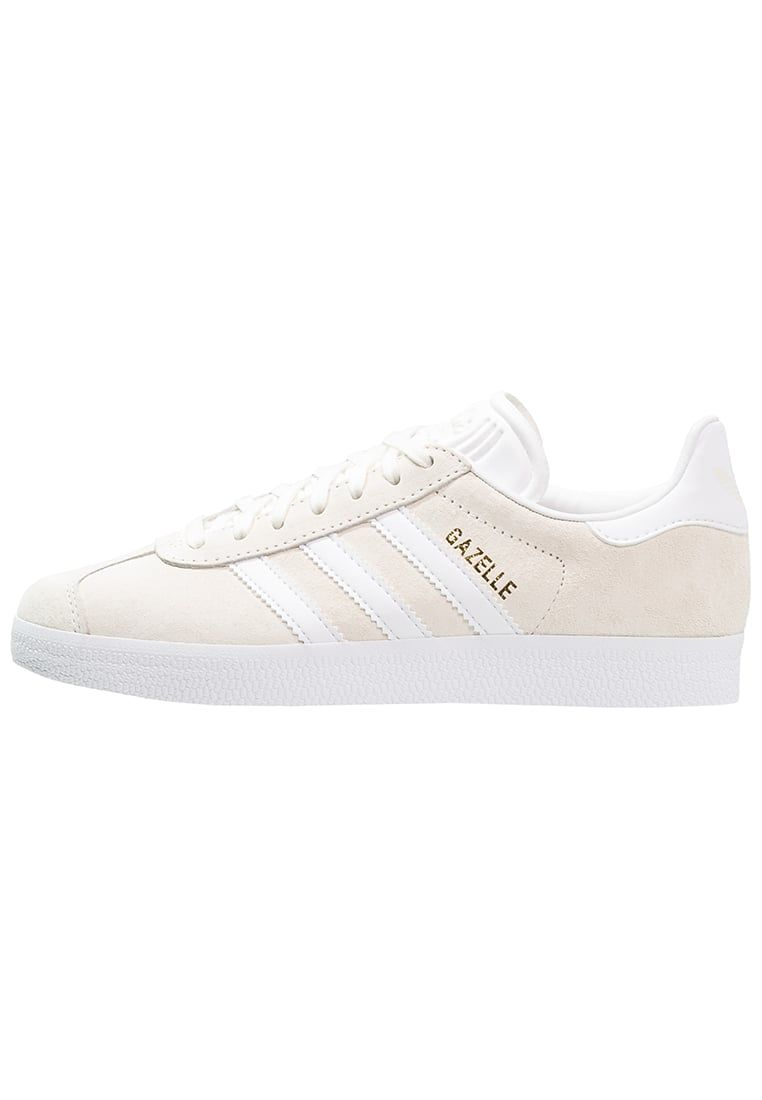 Femme adidas Originals GAZELLE - Baskets basses - offwhite/white/gold  metallic blanc cass�