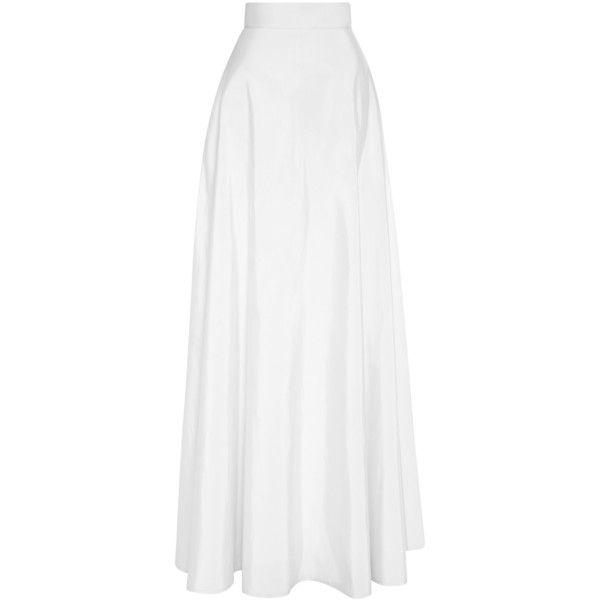 Rosie Assoulin White Ultrafine Silk Faille A-Line Ball Skirt ...