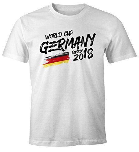 17174007d9c1 MoonWorks Herren Fan-Shirt Deutschland WM 2018 Fußball Weltmeisterschaft  Trikot Flagge