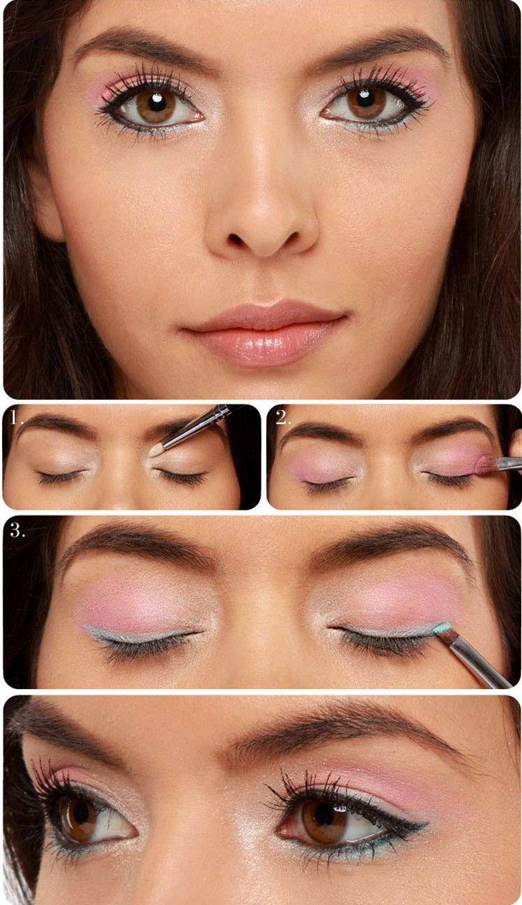Pink eye makeup tutorial prom prom eye pinterest pink eye cheer makeup baditri Image collections