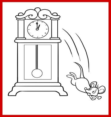 Printable Hickory Dickory Dock Coloring Page For Kids Here S A