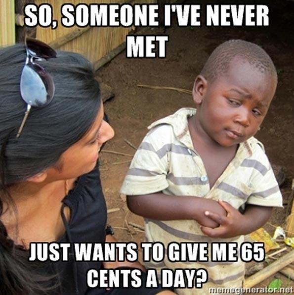 Skeptical third world kid.