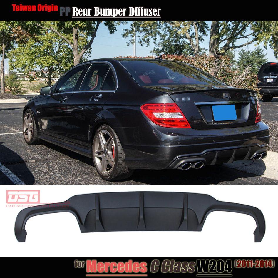 Mercedes C63 Style W204 Pp Plastic Rear Bumper Lip Diffuser For