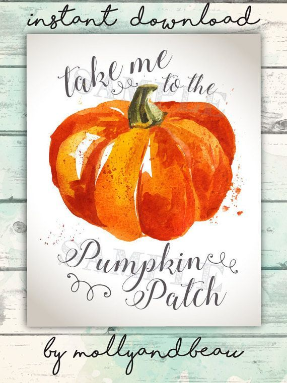Take me to the pumpkin patch printable! Only $4.50 on Etsy ...