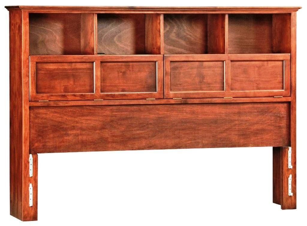 Image Of King Size Bookcase Headboard Unfinished Wood