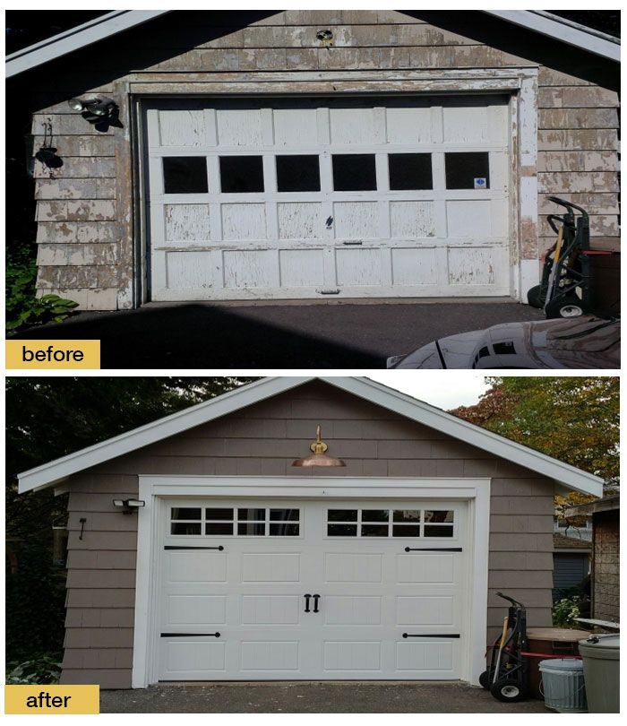 Fresh Paint A Gooseneck Lamp And A New Clopay Gallery Collection Carriage House Garage Door With Windows Gi Garage Doors Garage Door Design Garage Door Colors