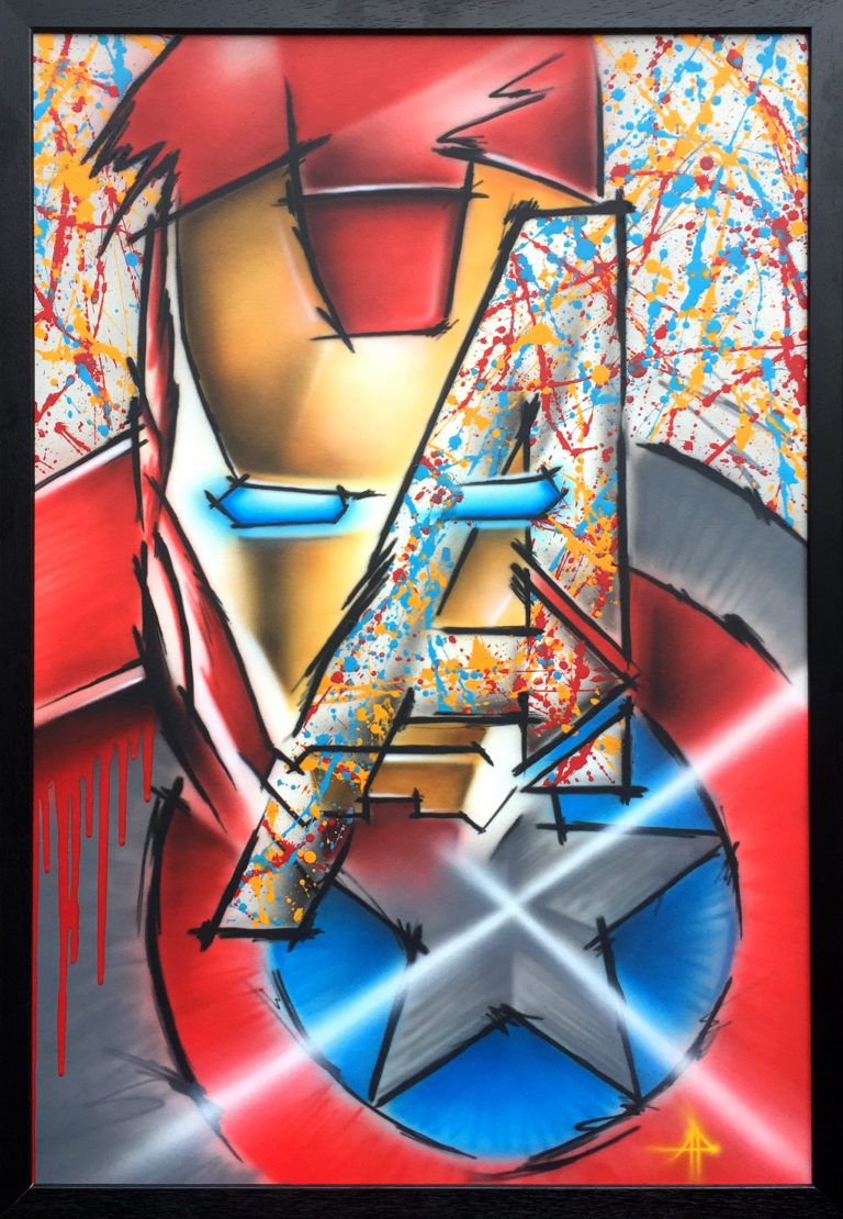 Marvel Avengers Abstract painting by Adam Pekr Avengers