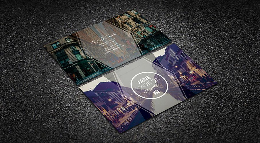 Modern Simplicity Photographer Business Card Template
