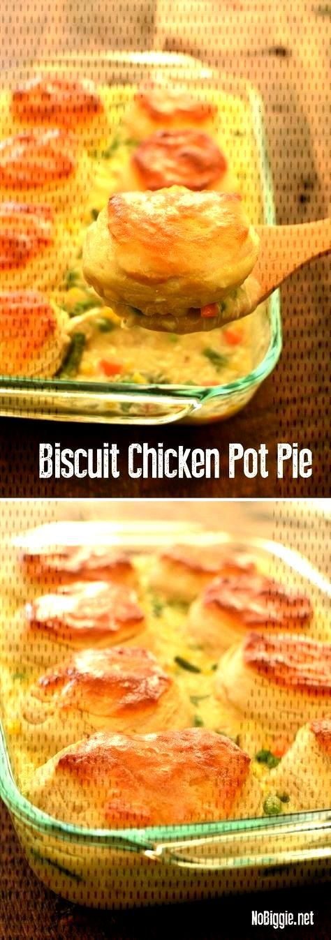 Biscuit Chicken Pot Pie - 'semi-homemade' hack by using Grand biscuits. With flavors you know a