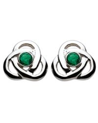 6dcb2a83b Celtic Heritage Collection emerald trinity knot earrings | My Style ...