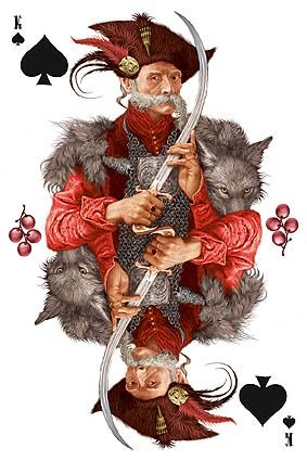 Playing card from Ukraine