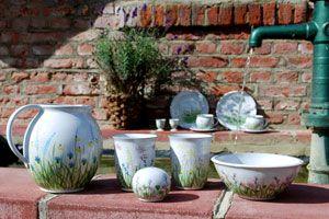 Hakenberg t pferei hakenberg kreativ mit keramik ceramics pottery und art - Keramikkugeln blau garten ...