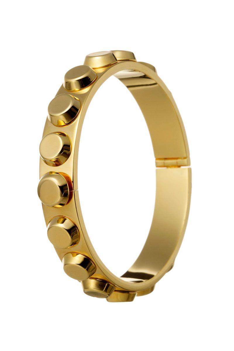 Bionic Narrow Bangle in Gold Metal, $490; reedkrakoff.com   - ELLE.com