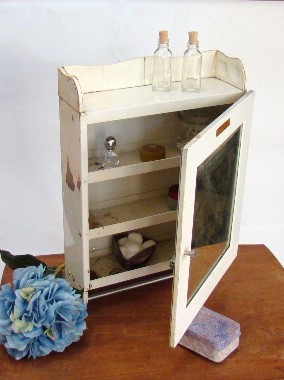 Vintage Medicine Cabinet; Vintage Industrial Wall Cabinet; Towel Bar ...