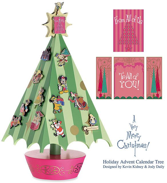 disney christmas advent calendar pin tree disney. Black Bedroom Furniture Sets. Home Design Ideas
