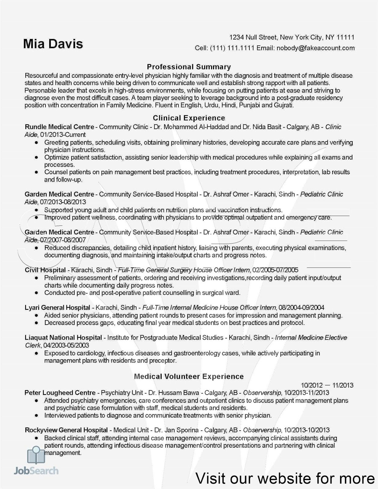 Doctor Resume Templates, Job Interview Tips 2020 in 2020