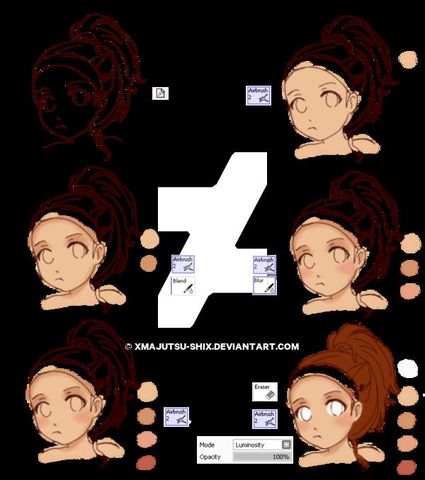 Anime Skin Shading Tutorial By Xmajutsu Shix On Deviantart Anime Art Tutorial Drawing Tutorial Face Anime Art Fantasy