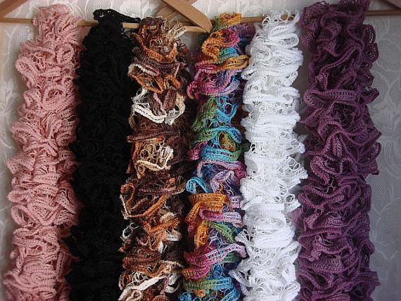 How to Make Homemade Scarves | Mamishka\'s Workshop: Ruffle Scarves ...