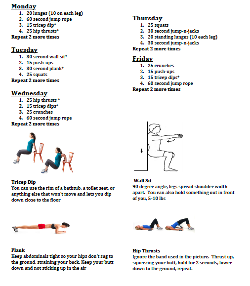 Quick Easy Workouts You Can Do Just About Anywhere Workout At Home