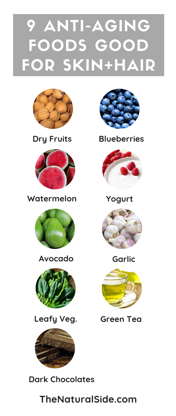 9 Anti Aging Foods Good For Skin And Hair Healthy Skin Foods Food For Healthy Skin Food For Foods For Healthy Skin Best Foods For Skin Foods For Clear Skin