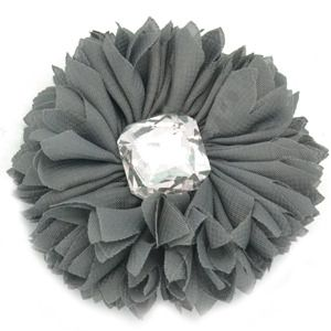 Gray Flower with Rhinestone! Only $5!!
