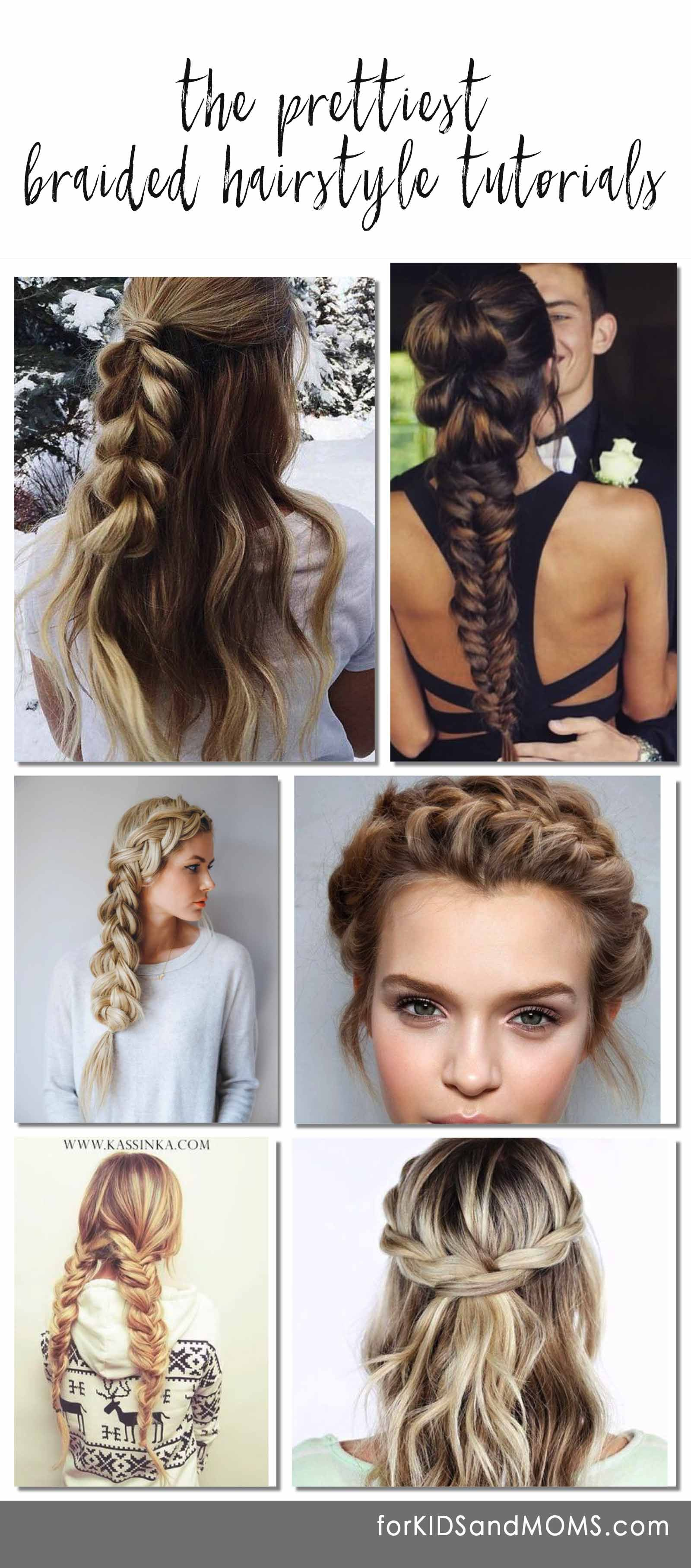 pretty braided hairstyle tutorials, all the most pinned