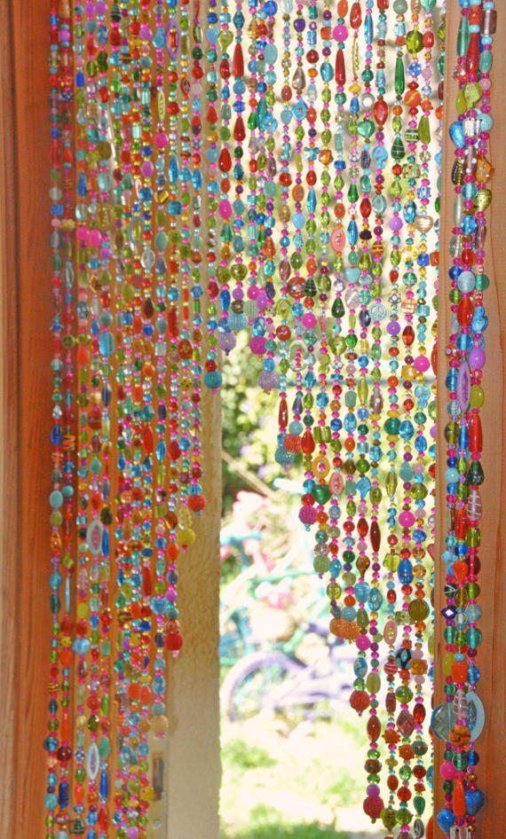 Beaded Curtain Hanging Door Beads Bohemian Curtain Boho