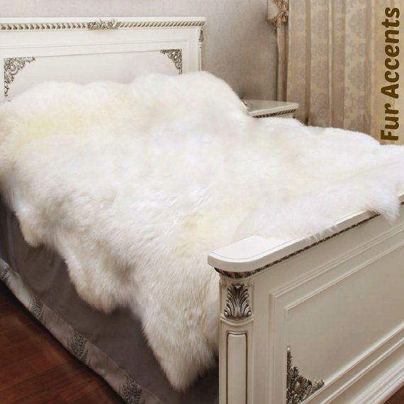 $500 = Shaggy Faux Fur Sheepskin Bedspread / Plush Thick