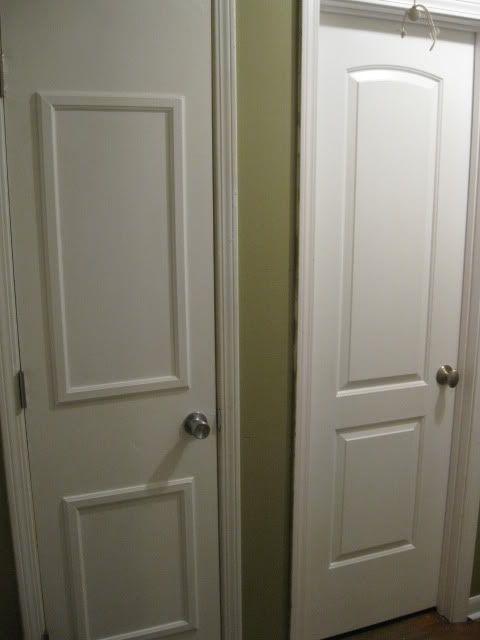 how to fix a crack in a hollow door