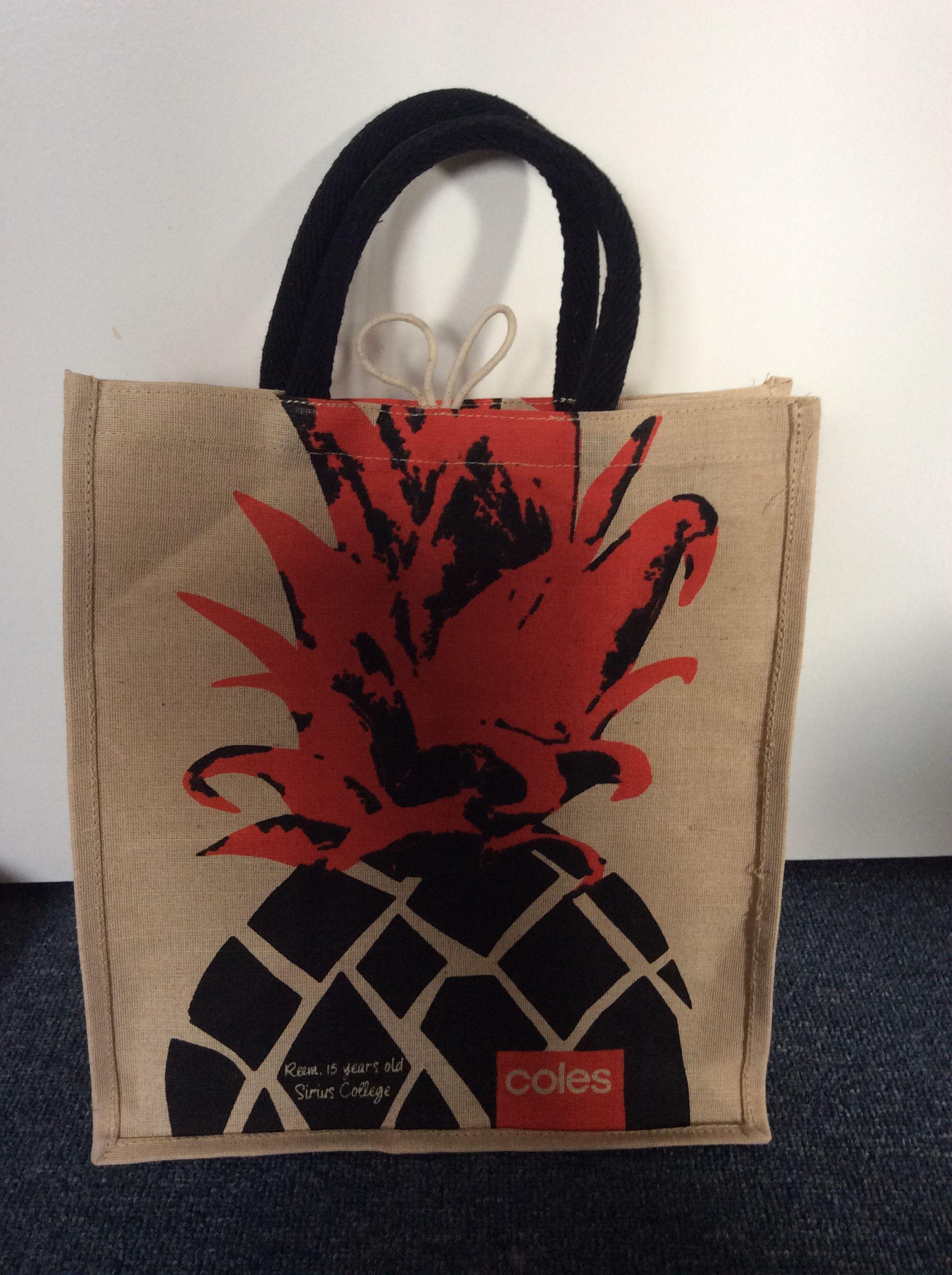 Coles Pineapple Jute Bag Jute Bags Pineapple Bag Bags
