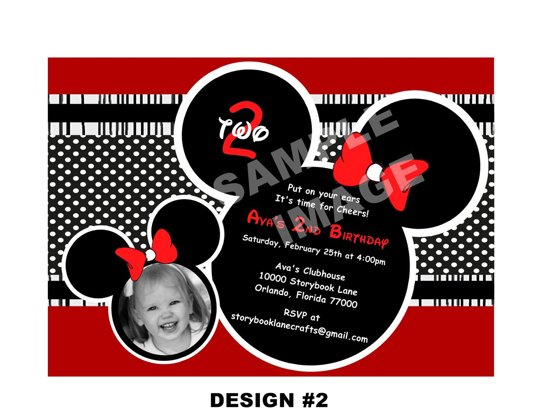 Minnie Mouse Birthday Invitation | Birthday parties. | Pinterest ...