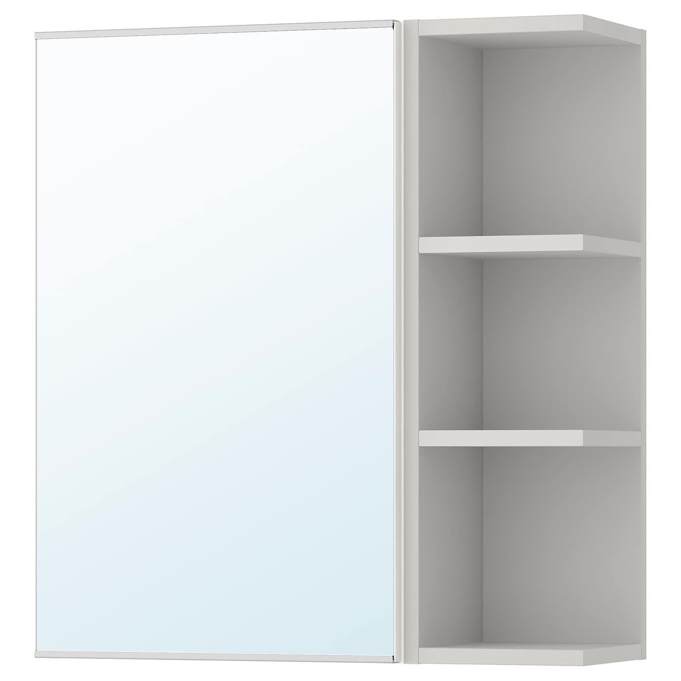 Lillangen Spiegelschrank 1 Tur 1 Abschlregal Weiss Grau Ikea Osterreich Badezimmer Spiegelschrank Spiegelschrank Und Badspiegel Beleuchtet