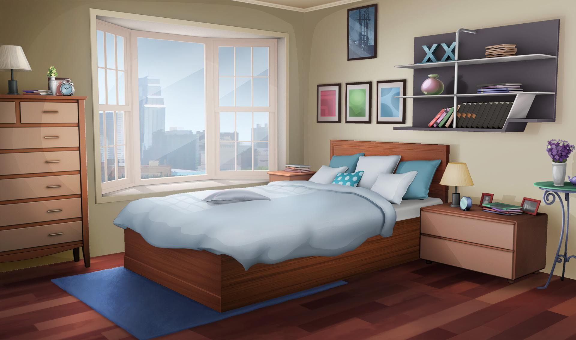 Anime Bedroom Background Day Anime Background Bedroom Designs