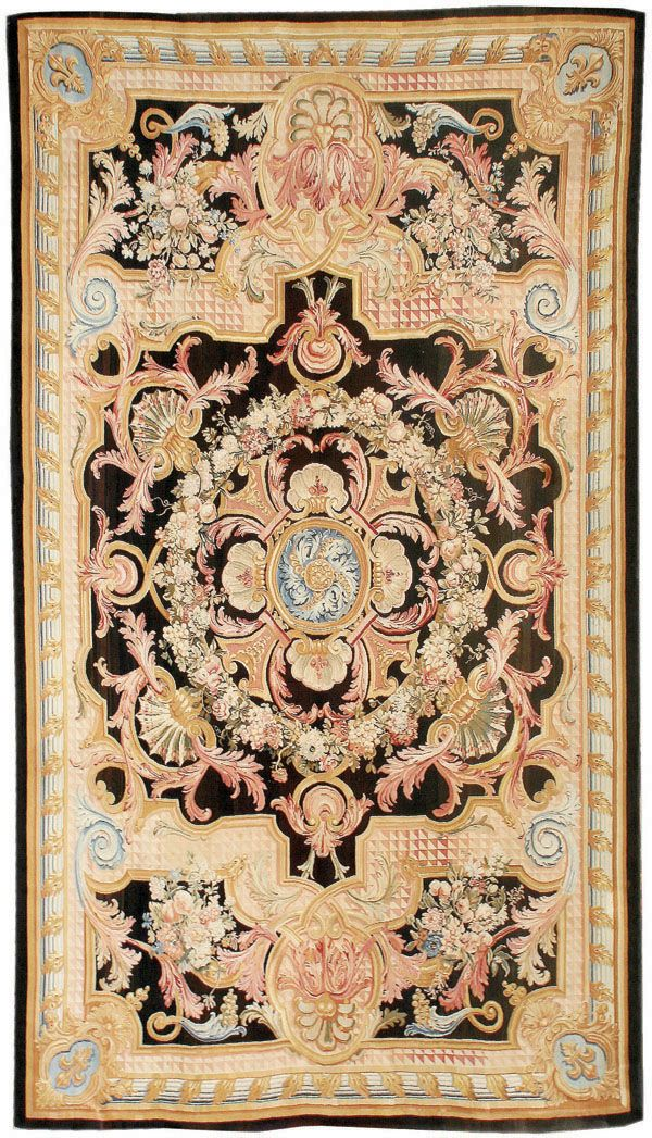 Antique Savonnerie Rug, X Hand Woven In France. At Mansour