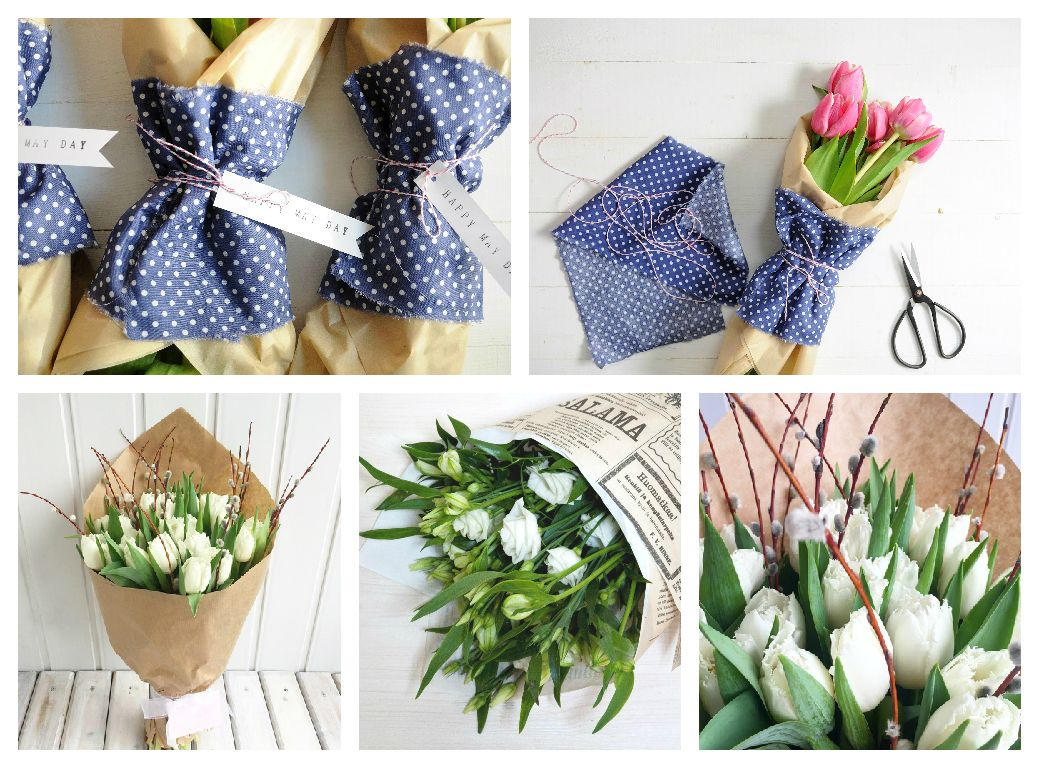 Bouquets In Kraft Paper How To Wrap A Bouquet Flowers Paper