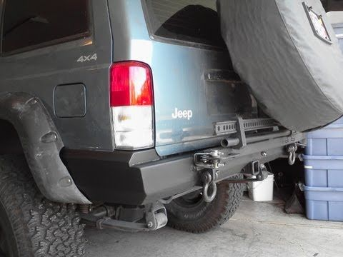 Rear Bumper Tire Carrier For 84 01 Jeep Cherokee Xj Youtube