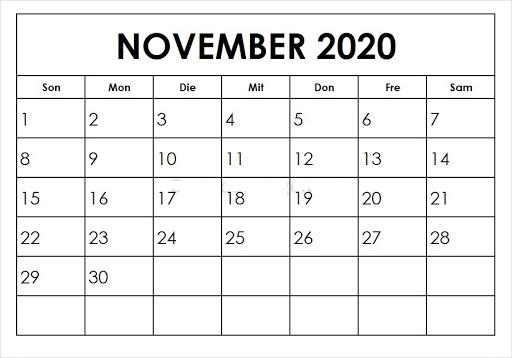 Kalender November 2020 Mit Feiertagen Zhudamodel In 2020 November Feiertag Kalender